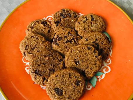 Cookies vegani cioccolato e caffé