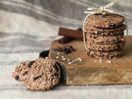 Cookies vegani al cioccolato fondente