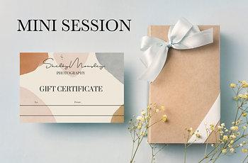 Mini Photo Session Gift Card