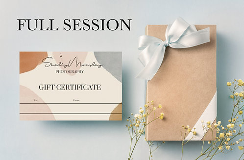 Full Photo Session Gift Card
