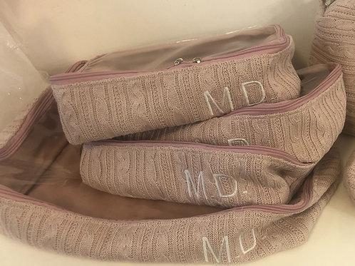 Oganizadores de mala em tricot bordado