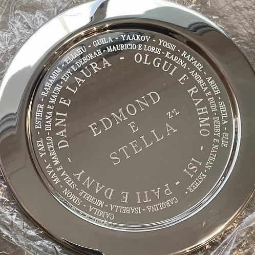 Prato redondo de prata 21 cms