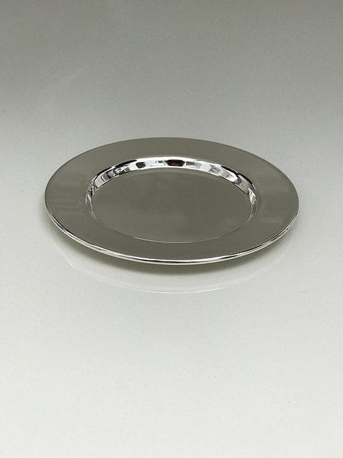 Prato de prata para copo de Kidush