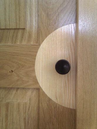 Inlay detail on cabinet door