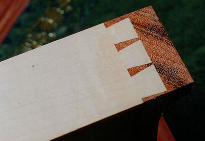 Hand crafted dovetail joints