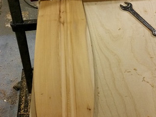 Making a disrupted face paddle with a swan inlay on the grip.