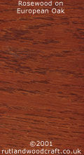 Rosewood Stained European Oak