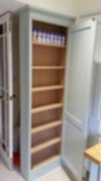 Hand painted kitchen storage unit