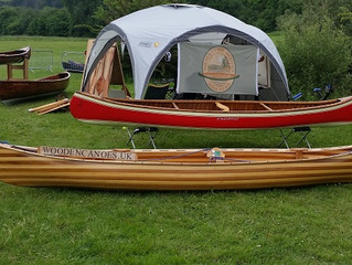 Felix's Canoe and Dabchick No 2 go to Beale Park Boat Show.