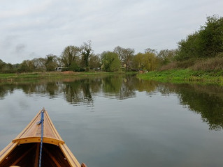 Flat water Makes for an Easy Paddle up River on the Nene
