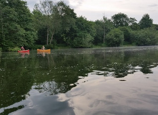 Felix's Canoe floats without leaks at Beale Park Boat Show Day 2.