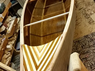 My First Stitch and Glue Canoe, Varnishing.