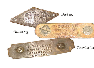 Felix's Canoe, New thwart tags, a distressing experience!