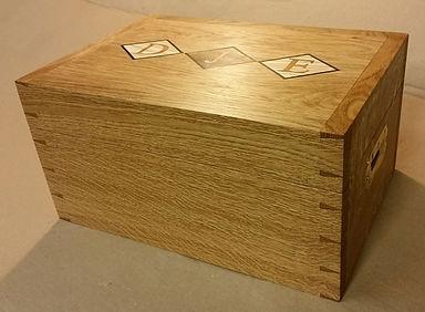 Bespoke storage box with inlaid initials