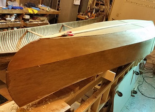 My First Stitch and Glue Canoe (Filling the Outside)