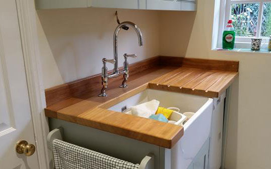 Traditional sink draining unit for Belfast sink