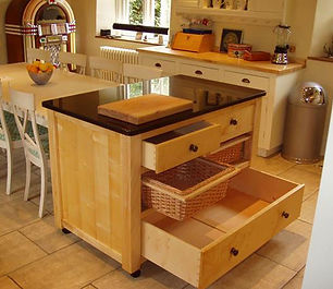 Bespoke kitchen island unit