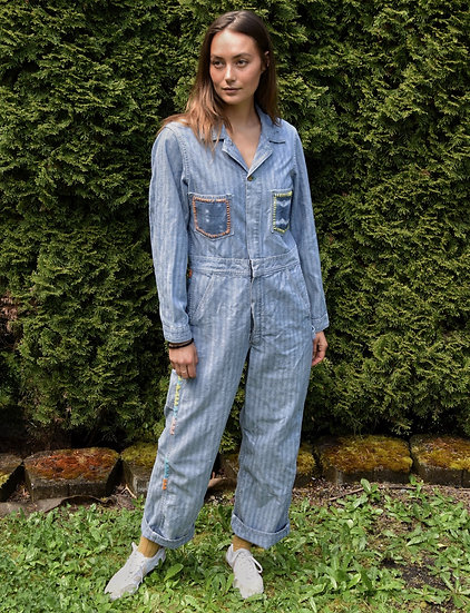 Hand Embroidered Utility Jumpsuit