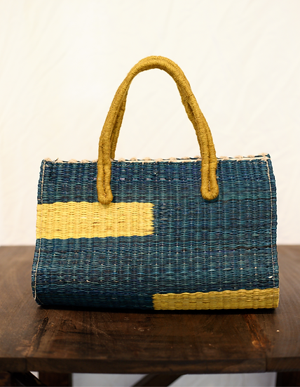 Hand Woven Primary Tote