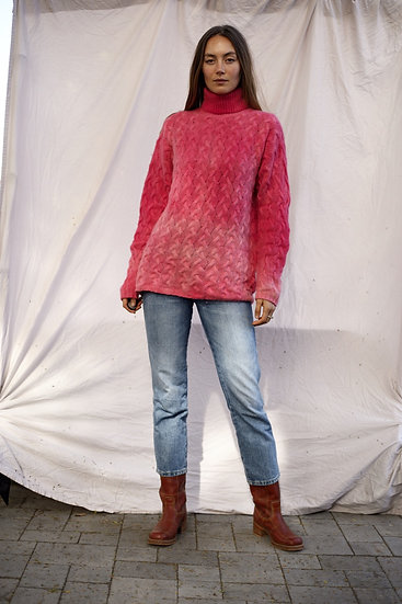 Hand Dyed Vintage Cashmere Cable Knit