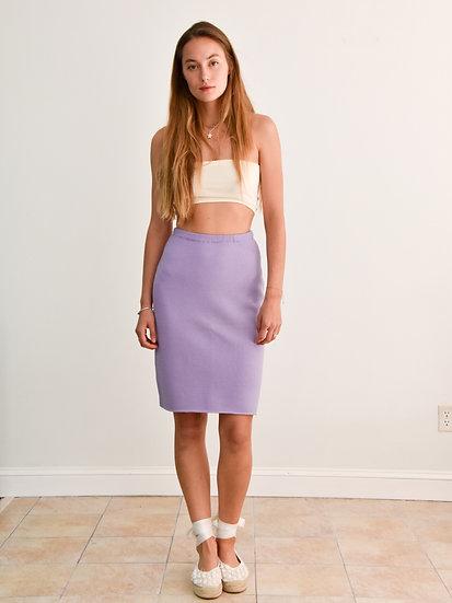 Lilac Cashmere Tube Skirt