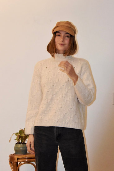 Vintage Cashmere Mock Neck Sweater