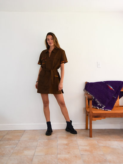 Hand Embroidered Shirt Dress - Mind of Many Exclusive