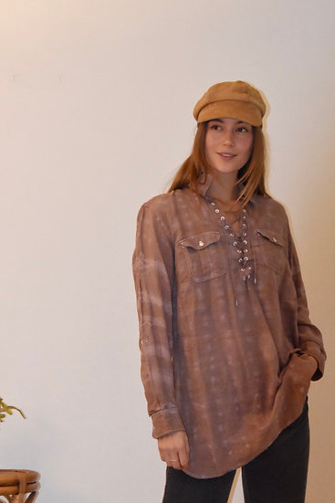 Linen Blouse, Hand Dyed