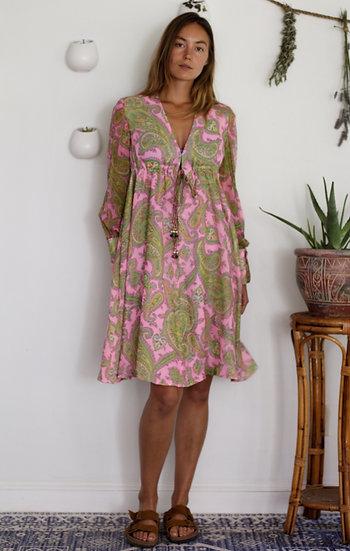 Vintage 60s Paisley Dress