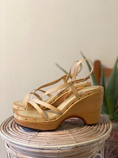 70's Clog Sandals - Size 7