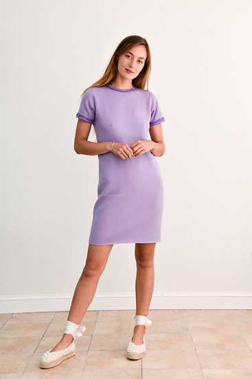 Lilac Cashmere Sweater Dress