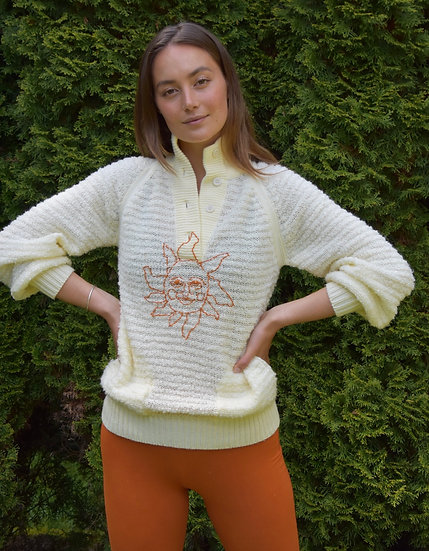 Hand Embroidered Vintage Sweater