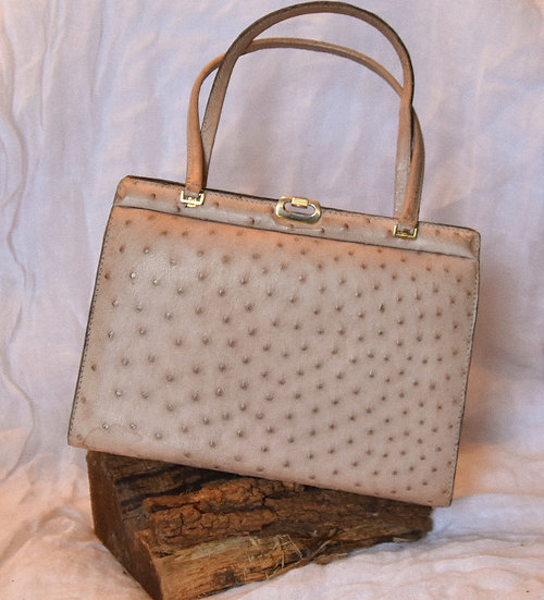 50's Ostrich Leather Bag