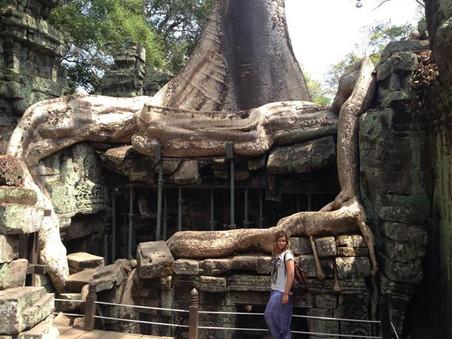 Meditating in Cambodia