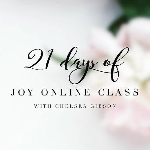 21 Days of Joy Online
