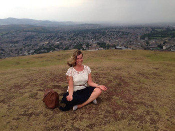 Meditating at the top of a volcano in Scotland