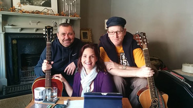 Pete with Henry Priestman and Tia McGraff