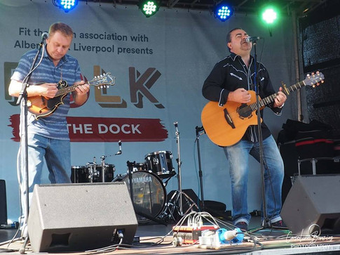 Pete with Keith Thomas Folk On The Dock (Liverpool)