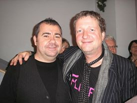 Pete with Glenn Tilbrook (Squeeze) Scotland