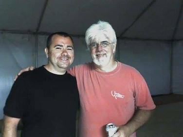 Pete backstage with Michael McDonald California (USA)