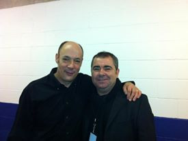 Pete with Wix Wickens Paul McCartneys MD Liverpool Echo Are