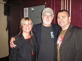 Pete with Ali and Michael McDonald backstage (Manchester)