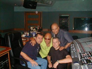 Pete with Narada Michael Walden Olympic Recording Studios (Barnes London)