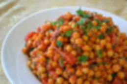 Chickpeas with Tomato, Parsley and Cumin