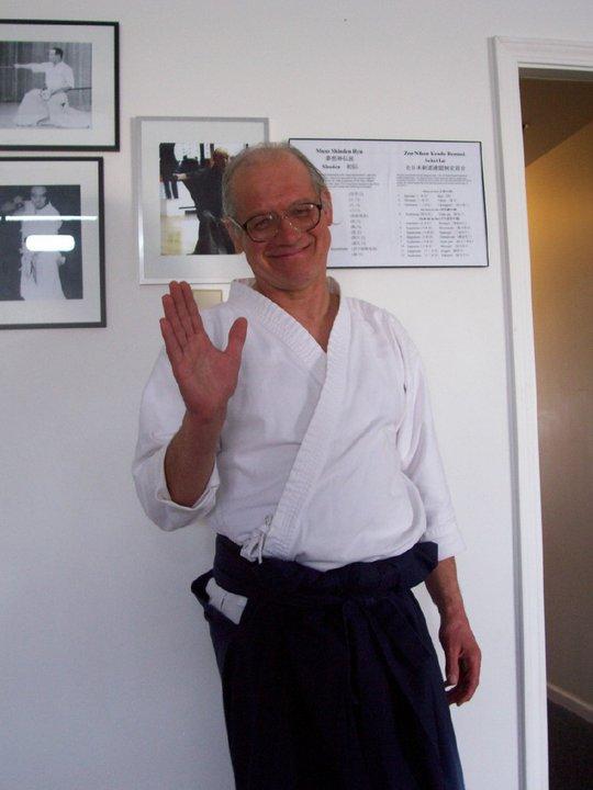 Dad at his dojo