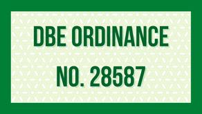 DBE Ordinance No. 28587 (Download)