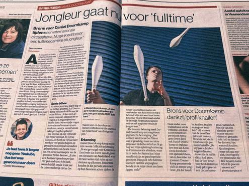 Daniel Doornkamp in de Krant