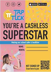 Tap Tuck Cashless Superstar Poster_A3 Se