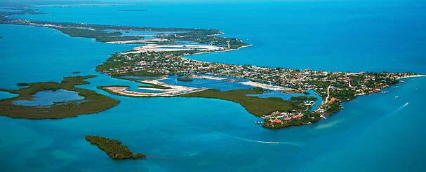 Placencia village from the air