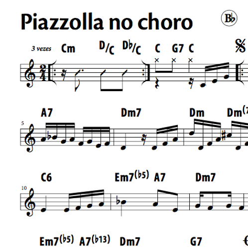 Piazzolla no Choro - Silvério Pontes & Marcelo Caldi (Bb)